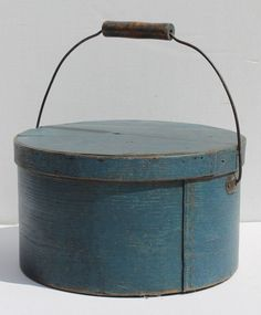 Bail handle pantry box, ca. 1840, New England