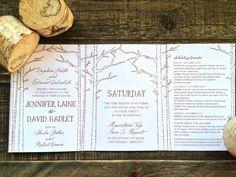 Three fold wedding invitation by Shindig Bespoke