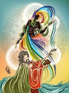 Iponda by OradiaNCPorciuncula on DeviantArt Orisha, African Mythology, Yoruba Religion, Spirited Art, Black Artwork, Princesas Disney, Gods And Goddesses, All Art, Creative Art