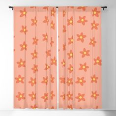 Lovely Pink Coral Floral Pattern Blackout Curtain by peladesign Blackout Windows, Blackout Curtains, Window Curtains, Invite, Alternative, Relax, Sun, Live, Floral