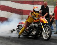 Rain may have delayed the WMDRA races in Sturgis, but it didn't slow them down. The 74th Annual #Sturgis Race and Rally was the place for the AMSOIL INC. sponsored competition, pitting the best drag racers in the country against each other and the clock.   It was the place to be to see Glen Kerr's dual engine Triumph and the Nitro fueled father and daughter team of Doc Hopkins and Kersten Heling from Bonduel, Wisconsin.
