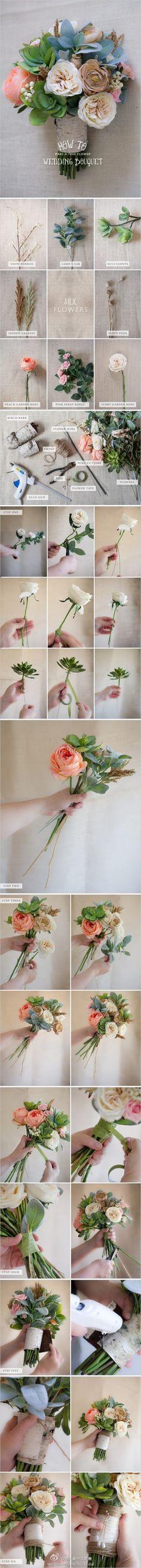 How to make own wedding bouquet, Cool Flower Crafts , Paper Crafts for Teens , paper, craft, flower,wrap, gift, decor,blumen,basteln,bastelvorlage,tutorial diy, spring kids crafts, paper flowers, handmade weddi