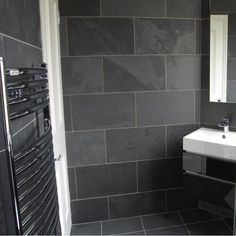 Black Slate Bathroom