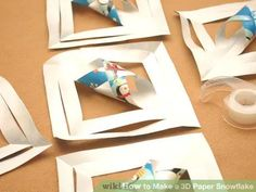 Image titled Make a 3D Paper Snowflake Step 6