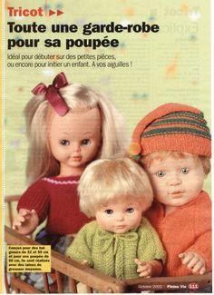 Tricots pour poupée de 60 cm, et baigneurs de 32 et 50 cm: 1) http://www.paramourdespoupees.com/t2610-Tricots-pour-poupee-de-60-cm-et-baigneurs-de-32-et-45-cm.htm 2) http://img41.xooimage.com/files/0/1/b/28126_227629-1ee501f.jpg