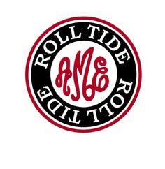 This Alabama Roll Tide Monogram template is an instant DIGITAL DOWNLOAD file to be cut out with an electronic cutting machine that accepts one of the