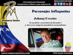 A todos nuestros usuarios, las transferencias son de Jueves a las 04:00pm hasta los Lunes 04:00pm. Johnny Cecotto,Es unpiloto#Venezolano de automovilismo, conductor de#Fórmula1y, dos vecescampeón de motociclismode alta cilindrada.Es una de las pocas personas que ha competido en los grandes premios de ambas pruebas.