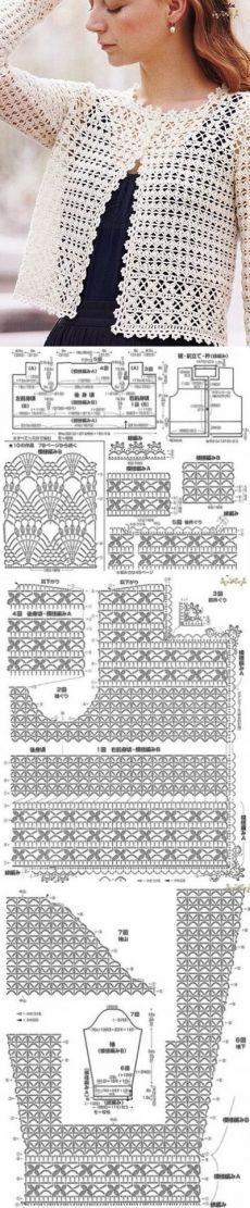 Crochet sweater summer ideas ideas for 2019 Pull Crochet, Gilet Crochet, Mode Crochet, Crochet Coat, Crochet Cardigan Pattern, Crochet Jacket, Crochet Blouse, Crochet Shawl, Crochet Clothes