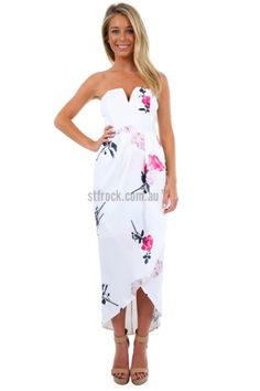 Langham mona lisa coral sweetheart bust maxi dress