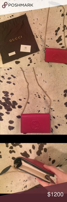 Gucci Soho Crossbody / Authentic Brand New in Box. Comes with authenticity cards. No trades or offers off PM. Red white and blue. Classic but just not my style. Gucci Bags Crossbody Bags