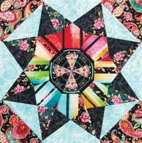 Free Quilt Block: Secret Garden from Quilters Newsletter October/November 2014