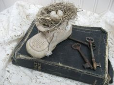 """Treasures from the Heart: """"Vintage"""" Baby Shoe Tutorial and More!!!"""