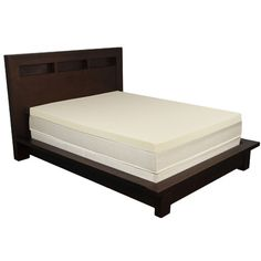 "Features:  -Memory foam topper.  -Memory foam made with ''green'' soy based polyols.  Color: -Tan.  Country of Manufacture: -United States. Dimensions:  -Foam density: 2.5 lbs.  Thickness: -4"". Size T"
