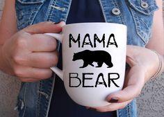 Mama Bear Mug - Pregnancy Announcement - Mom Life - Coffee Mug - Tea - Momma Bear - Mom Goals - Mother's Day by HookedOnTilly on Etsy