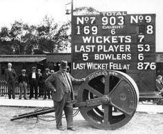 Cricket Scoreboard in 1938