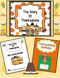 EngagingLessons  from  Entire Shop 40% OFF-The Story of Thanksgiving!Booklet,Craftivity & Slideshow on TeachersNotebook.com -  (35 pages) - Share the wonderful Story of Thanksgiving by showing this Slideshow, all written in an easy to understand format, Completing the Activity Booklet, which includes pages for the students to re-tell the story of Thanksgiving in their own words by using pictu
