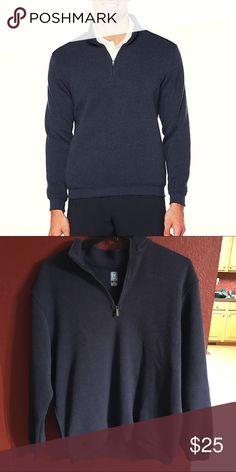 PG Tour Men's Navy Quarter Zip NWOT Soft Quarter Zip PG Tour Sweaters Zip Up