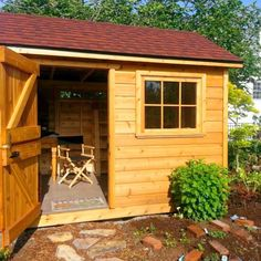 This Palmerston shed isn't just storage for your gardening tools! It's also a perfect work station in the summer. Small Wood Shed, Traditional Sheds, Shed Kits, Dutch Door, Shed Design, Garden Tools, Garden Sheds, This Is Us Quotes, Shed Plans