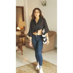Indian Western Dress, Western Dresses, Western Outfits, Indian Dresses, Bollywood Celebrities, Bollywood Fashion, Bollywood Actress, Casual Wear, Casual Outfits
