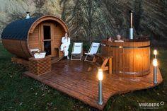 Diy Sauna, Sauna House, Sauna Room, Outdoor Sauna, Outdoor Decor, Outdoor Hot Tubs, Ideas Cabaña, Sauna Lights, Sauna Accessories