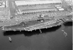 April The aircraft carrier USS Kittyhawk, the first of a new class of attack carrier equipped with Terrier ground-to-air guided missiles was commissioned. Navy Day, Go Navy, Navy Careers, Navy Aircraft Carrier, Navy Life, Kitty Hawk, Air And Space Museum, Navy Veteran, United States Navy