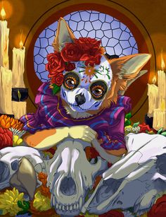 Day of the Dead by Aunumwolf42
