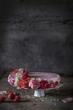 Three Roses Strawberry Pistachio Bavarese - Hortus Natural Cooking - Naturally Italian.