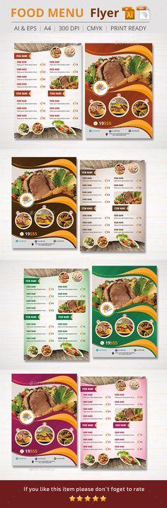 Food Menu Flyer Template #design Download: http://graphicriver.net/item/food-menu-flyer/11027824?ref=ksioks