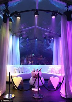 VIP: Duggan created an exclusive club for the teens, complete with a roped off VIP area