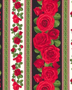 Galmour - Romance Rose Stripe - Quilt Fabrics from www.eQuilter.com