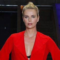 Beauty Charlize Theron wearing an EF Collection diamond chevron necklace while promoting her new movie, Atomic Blonde in Berlin 🇩🇪Styled by Leslie Fremar ❤️❤️❤️ Xo, EF