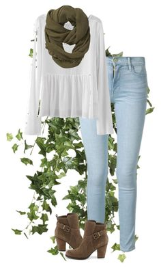 """Untitled #162"" by kennedy45 on Polyvore featuring OKA, Frame Denim, Athleta and Ivanka Trump"