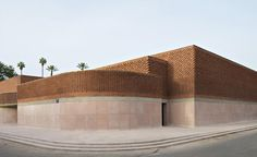 The recently opened square metre Musée Yves Saint Laurent in Marrakech is a triumph of architecture and design by Studio KO. Brick Architecture, Contemporary Architecture, Yves Saint Laurent, Marrakech Morocco, Kos, Studio Mumbai, Wallpaper Magazine, Brick Building, Morocco
