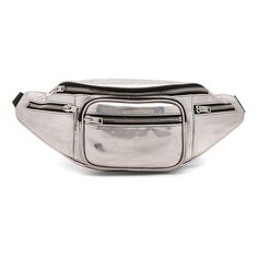 Alexander Wang Attica Soft Fanny Pack (34.355 RUB) ❤ liked on Polyvore featuring bags, handbags, alexander wang, fanny bag, metallic bag, zip top bag and waist pack bag