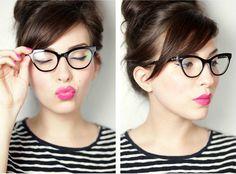 Make para quem usa óculos