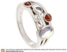 Victoria's Fairtrade White Gold Moonstone and Garnet Eternity Ring Jewellery Uk, Jewellery Designs, Jewelry Shop, Green Street, Moonstones, Eternity Ring, Store Design, Fair Trade, Garnet
