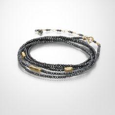 Hematite Log Wrap Bracelet,Anne Sportun