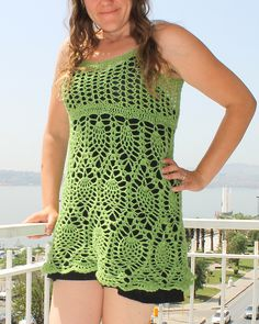 Ravelry: rdavis8483's Adult tank, dress, or cover up (modified from kids dress)
