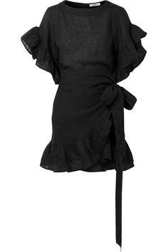 Isabel Marant Étoile | Delicia ruffled linen mini dress | NET-A-PORTER.COM