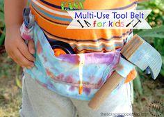 DIY Tool Belt for Kids by The Scrap Shoppe | TodaysCreativeBlog.net