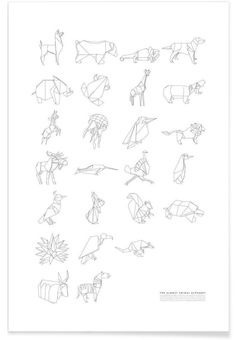 Almost Animal Alphabet als Premium Poster von Julia Marquardt | JUNIQE