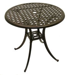 """American Trading Company 086T-30 Weave Design Powder-Coated Solid Cast Aluminum Indoor/Outdoor Table, 30"""" Diameter x 28"""" Height, Antique Bronze American Trading Company http://smile.amazon.com/dp/B00HB5DJQO/ref=cm_sw_r_pi_dp_VKWvwb0P8A8KS"""