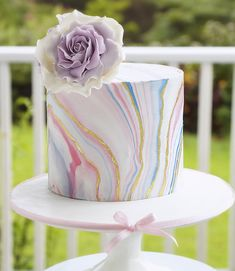 Marbled Fondant Cake - SugarEd Productions Online Classes