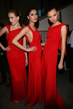 CHANEL red gowns glamour gown