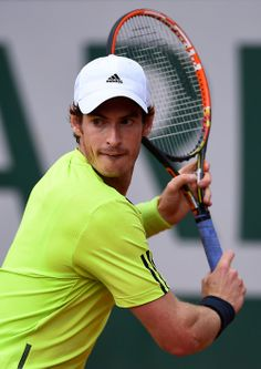 French Open 2014 Andy in action against Andrey Golubev