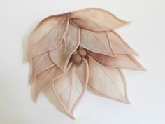 Vintage millinery flower pad silk dusty rose ombre