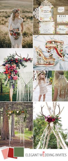 unique bohemian wedding inspiration for 2017 trends