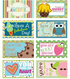 Freebie: LOTS of Lunch Box Love