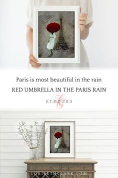 Eiffel Tower Paris Wall Art Parisian Woman with Red Umbrella | Etsy Art Prints For Sale, Framed Art Prints, Paris Theme Decor, Eiffel Tower Drawing, French Style Decor, Paris Painting, Rooster Art, Umbrella Art, Paris Wall Art