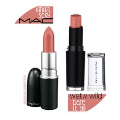 Trendy makeup dupes mac wet n wild 27 Ideas Mac Dupes, Drugstore Makeup Dupes, Lipstick Dupes, Beauty Dupes, Mac Makeup, Mac Eyeshadow, Beauty Skin, Lipstick For Fair Skin, How To Apply Lipstick